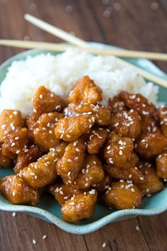 There's no need to order out! This better than takeout sesame chicken is ready to go in a little over an hour!