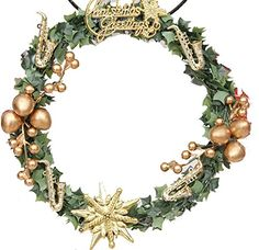 Km Christmas Decorations Fruit Wreath 78 Inches Golden -- This is an Amazon Affiliate link. You can get more details by clicking on the image.
