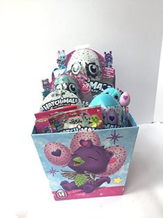 Hatchimals Colleggtibles Toys Spring Gift Basket Girls Bundle Filled with 9 Pieces Easter Ideas, Kids Gifts, Easter Baskets, Fill, Decorative Boxes, Amazon, Toys, Spring, Activity Toys
