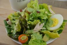 Heat wave food: salad with Green Goddess dressing