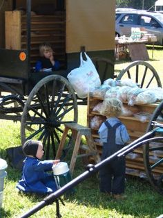 Amish Children selling baked goods