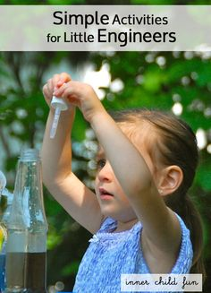 Simple Activities for Little Engineers - children will enjoy solving problems and figuring out how things work. Preschool Science, Teaching Science, Science For Kids, Science Activities, Science Projects, Educational Activities, Preschool Activities, Projects For Kids, Science Fun