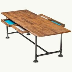 Top 100 Products 2012  Dining Table, by CB2  way too expensive (1100!!)  I could make it easily...