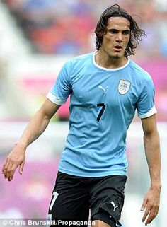 Uruguayan footballer Edinson Cavani. One of the many reasons to watch the World Cup