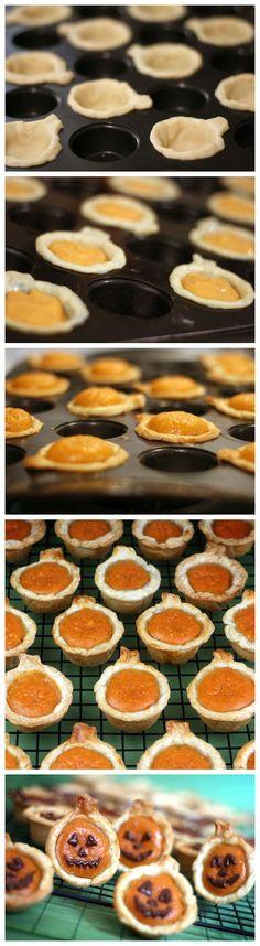 Pumpkin Pie Bites with my mom's pumpkin pie recipe!