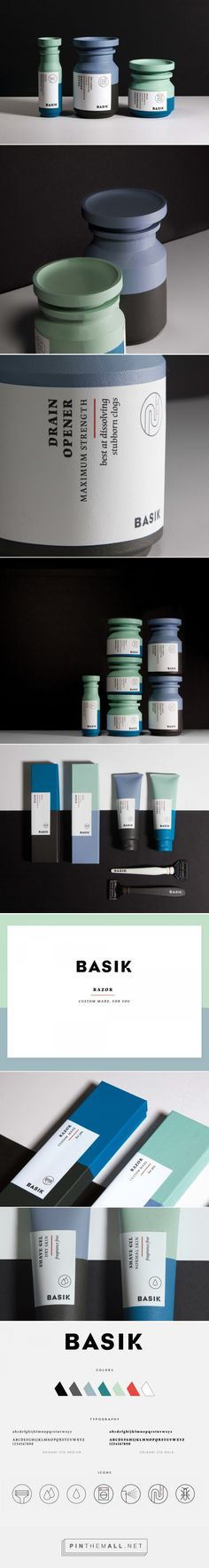 basik, minimal gender-neutral packaging for hygiene products by HELLSTEN