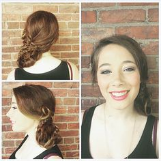 A gorgeous side-braided #chignon by @elikaemerick!! Loving this elegant and romantic design!  #updo #braids