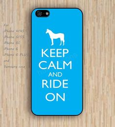 iPhone 5s 6 case Dream catcher colorful horse keep calm ride on blue phone case iphone case,ipod case,samsung galaxy case available plastic rubber case waterproof B430