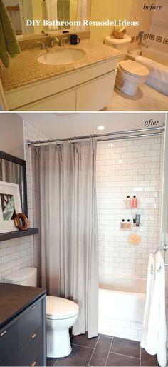 Incredible DIY Ideas for Bathroom Makeover & Remodel #bathroomideas #smallbathroom