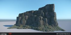 "The following images are from a VR demo that Crytek showed at E3 2015. The demo was titled ""Back to Dinosaur Island 2"". I was responsible for most of the rocks seen in the demo including the cliff that the player is scaling, and the surrounding mid distance cliff assets."