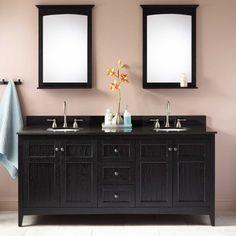 "72"" Alvelo Double Vanity for Undermount Sinks – Black Signature Hardware $1600"