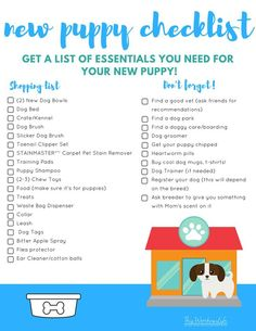 Are you getting a new puppy? We put together a list of what you will need to care for your new puppy. Get our list of New Puppy Essentials Checklist a… – animals Coton De Tulear, Training Your Puppy, Dog Training Tips, Puppy Training Schedule, Training Classes, Potty Training, Leash Training, Agility Training, Toilet Training