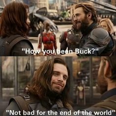Look at that beautiful smile I've really missed it and it breaks my heart that Steve might die ( will ) not only because I love him but I really don't wanna see bucky's reaction to it