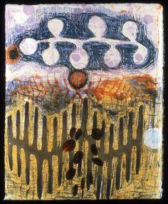 """Frond"" by Karen Kunc (woodcut, intaglio & digital transfer)"