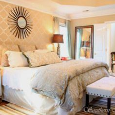 Neutral and luxurious bedroom