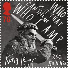 King Lear commemorative postage stamp issued by the UK's Royal Mail in honor of the Royal Shakespeare Company's 50th Anniversary (2011).