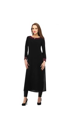 Buy Gorgeous Rayon Black Long Kurti Online at Low Prices in India - Paytm.com Saiveera Fashion is Popular brand in Women Clothing in Surat. Saiveera Fashion is Produce many kind of Women's Clothes like Anarkali Salwar Suits, Straight Salwar Suits, Patiala Salwar Suits, Palazzos, Sarees, Leggings, Salwars, Kurtis, etc. For any Query Contact/Whatsapp on +91-8469103344. Patiala Salwar Suits, Churidar, Anarkali, Plain Kurti, Women's Clothes, Clothes For Women, Kurtis, Cotton Dresses, Sarees