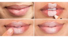 """/) Create the illusion of plumper lips by filling in the middle section with a light concealer, blending it out with the warmth from your fingertip, and finishing with a nude lip gloss. Product in this look: Nudestix Concealer Pencil Crayon Correcteur in """"Light 1""""and Mark Total Kiss Up Hook Up Plumping Lip Gloss in """"Sexy"""""""