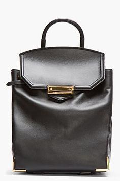 9bc6768fc7da3 Alexander Wang Black Leather Prisma Backpack for women
