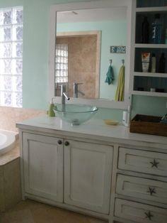 Custom coastal bathroom vanity