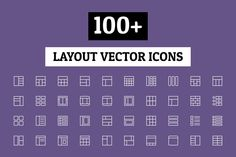 100+ Layout Vector Icons by Creative Stall on @creativemarket