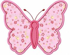 Instant Download Pink Butterfly Applique Machine Embroidery Design NO:1132