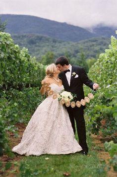 46 Beautiful Vineyard Wedding Dresses | HappyWedd.com