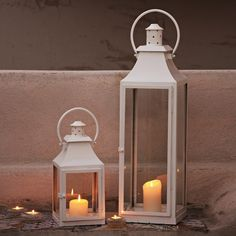 Metal Lantern - Small | The White Company
