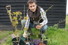Richard with trees to plant. Spring 2010.