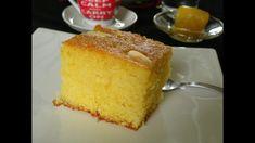 Το Ρεβανί καρύδας (ή ραβανί), επίσης γνωστό σαν Ρεβανί Βεροίας, είναι ένα αφράτο κέικ, σαν παντεσπάνι, που γίνεται με σιμιγδάλι και γιαούρτι και αφού ψηθεί στο φούρνο, περιχύνεται με σιρόπι. #ρεβανί #ραβανί #σιροπιαστά #γλυκά ##παραδοσιακά Greek Desserts, Greek Recipes, Greek Cake, Semolina Cake, Olive Oil Cake, Blanched Almonds, Cinnamon Almonds, Cake Videos, How To Make Cake