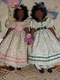 A Doll Shop of My Own: Belinda and Lucinda-Edith Flack Ackley pattern dolls Doll Clothes Patterns, Doll Patterns, Doll Shop, Doll Maker, Soft Dolls, Girl Dolls, Rag Dolls, Fabric Dolls, Vintage Dolls
