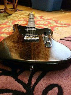 Fender Partscaster Telemaster with dark stain and oil finish | Reverb