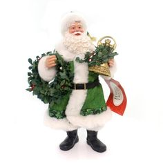 Possible Dreams Ringing In The Season Christmas Figurine Height: 11.5 Inches Material: Fabric Type: Christmas Figurine Brand: Possible Dreams Item Number: Possible Dreams 4052113 Catalog ID: 31298 New