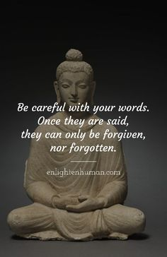 Words can hurt. Buddhist Wisdom, Buddhist Quotes, Spiritual Quotes, Positive Quotes, Buddhist Teachings, Words Hurt Quotes, Words Can Hurt, Wise Quotes, Buddha Quotes Inspirational