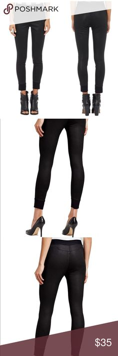 RAG & BONE Coated Black Jogger Pants Black Rag & Bone coated jogger pants. * elasticized band at waist  * tonal stitching and elasticized band at ankles * color is coated black - more of a waxed jean feel.  * detail stitching on back  Super cute to dress up with heels or with hi tops for more casual look. rag & bone Pants