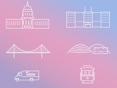 Wedding Website - San Francisco Illustrations