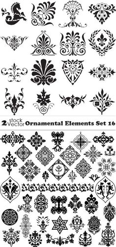 Vectors - Ornamental Elements Set 16