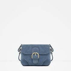 Image 1 of SPLIT SUEDE MESSENGER BAG WITH BUCKLE from Zara
