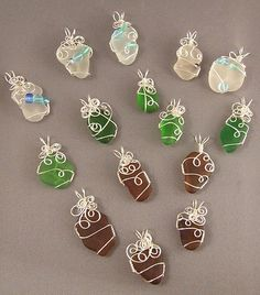 How to WireWrap Beach Glass the Easy Way – Wire crafts - Wire crafts, Wire wr. - How to WireWrap Beach Glass the Easy Way – Wire crafts – Wire crafts, Wire wrapping stones, Be - Wire Crafts, Jewelry Crafts, Handmade Jewelry, Jewelry Ideas, Wire Wrapped Jewelry, Wire Jewelry, Wire Earrings, Wire Wrapped Stones, Quilling Earrings