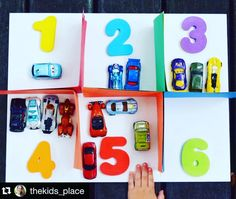 Brilliant & creative counting game idea from @thekids_place - perfect for little motorheads like my son  #repost  Counting Cars Parking Garage  We use our toy cars for so many different activities ! It helps to hold the attention of little ones and allows them to learn with something they love ! This is a great one for children who are learning to count and there is very little setup required. Simply used folded sheets of construction paper to form different sections in the garage place (or…