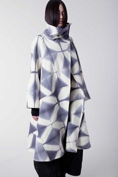Amy Nguyen Textiles - Shibui - Long Swing Coat:  Ultramodern/Androgynous looks are often drawn from a Japanese aesthetic and can be works of art in their own right.
