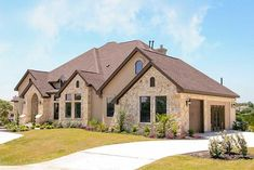 Hill Country Dream Home - thumb - 03 House Plans One Story, New House Plans, 400 M, Huge Kitchen, Flex Room, Monster House Plans, Dream House Exterior, Second Floor, Great Rooms