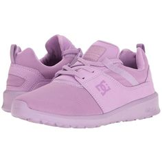 DC Heathrow (Lilac) Women's Skate Shoes ($46) ❤ liked on Polyvore featuring shoes, toe cap shoes, mesh shoes, lightweight shoes, lilac shoes and light weight shoes