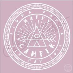 Sigma Kappa | Bid Day | Happy Camper | Camping Theme Bid Day | South by Sea | Greek Tee Shirts | Greek Tank Tops | Custom Apparel Design | Custom Greek Apparel | Sorority Tee Shirts | Sorority Tanks | Sorority Shirt Designs