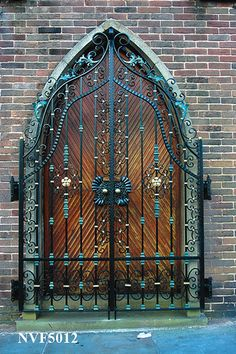 Beautiful gated church door in Nelson, England  - bespoke-church-gates-NVF5012 by NVF - Gates, via Flickr -
