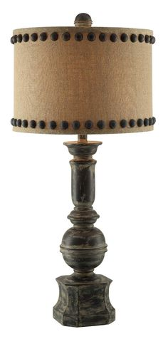 """Summit Iron Baluster 32"""" H Table Lamp with Drum Shade"""
