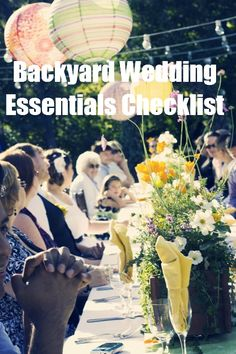DALLAS- The Backyard Wedding: At-Home Weddings Are Beautiful, but Not Easy | Intimate Weddings - Small Wedding Blog - DIY Wedding Ideas for Small and Intimate Weddings - Real Small Weddings -good to know, maybe a small venue or something instead.