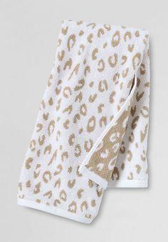 Leopard Jacquard Bath Towels Half Bath Pinterest Towels - Leopard print towels for small bathroom ideas