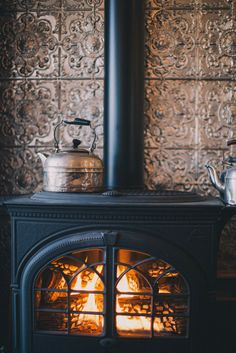 magnoliajones: Photography from Kira and Matt-(warm cozy stove)-We love these stoves ♥