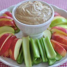 CREAMY PEANUT BUTTER FRUIT DIP